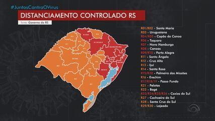 Após recursos, mesmas 8 regiões do RS seguem com bandeira vermelha