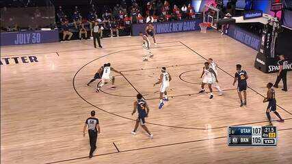Melhores momentos: Brooklyn Nets 107 x 112 Utah Jazz, pela NBA