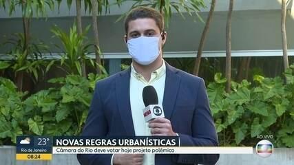 Câmara dos Vereadores deve votar projeto de novas regras urbanísticas no Rio