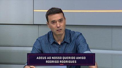 André Rizek se emociona ao falar da morte do apresentador Rodrigo Rodrigues