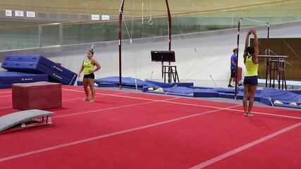 Rebeca Andrade e Flávia Saraiva, da ginástica artística, treinam em Portugal
