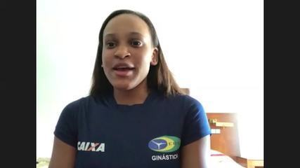 Rebeca Andrade fala da importância da mãe que não a deixou desistir da ginástica