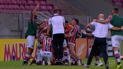 Melhores momentos de Santa Cruz (7) 0 x 0 (6) Náutico, pela semifinal do Pernambucano