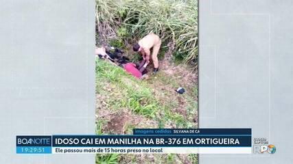 Idoso é resgatado de manilha em Ortigueira depois de ficar preso por 15 horas