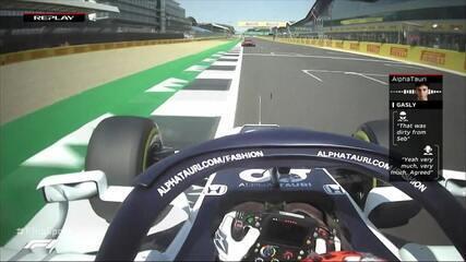 Gasly reclama de Vettel pelo rádio e alemão é atrapalhado por Russell