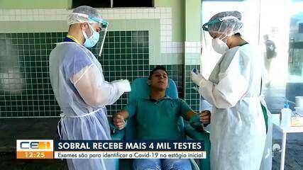 Sobral recebe mais de 4 mil testes para identificar covid na fase inicial