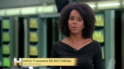 Contas do setor público terminam primeiro semestre com saldo negativo em R$ 402,7 bilhões