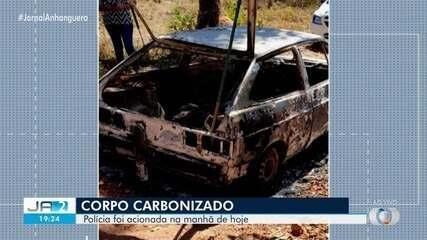 Jovem é encontrado carbonizado dentro do próprio carro, em Uruaçu
