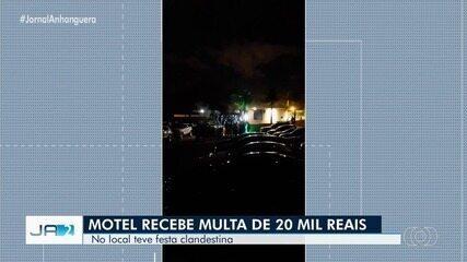 Motel é multado em R$ 20 mil após festa clandestina, em Aparecida de Goiânia