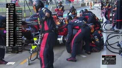 Verstappen faz pit stop no GP da Inglaterra