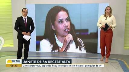 Deputada Janete de Sá recebeu alta depois de 12 dias internada