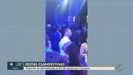 Covid-19: vídeos mostram aglomeração em festas clandestinas em Campinas