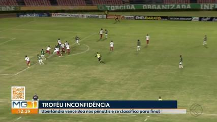 Uberlândia vence Boa Esporte nos pênaltis e pega Cruzeiro na final do Troféu Inconfidência