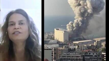 Brasileira que mora em Beirute diz: 'Achei que a guerra estava recomeçando'