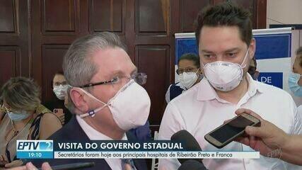 Secretários estaduais visitam Franca e Ribeirão Preto para acompanhar evolução da pandemia