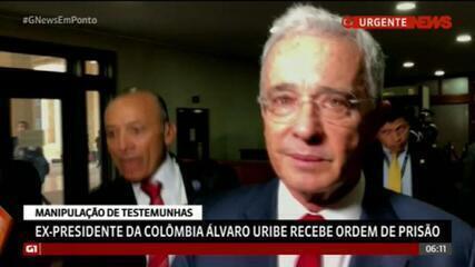 Ex-presidente da Colômbia Álvaro Uribe recebe ordem de prisão preventiva