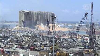 Veja imagens do porto de Beirute no dia seguinte a explosão