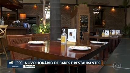 Governo amplia funcionamento de bares e restaurantes