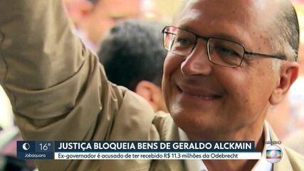 Justiça determina bloqueio de mais de R$ 11 milhões em bens de Geraldo Alckmin