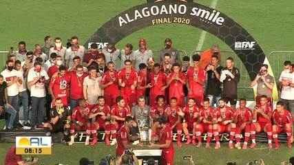 Veja os melhores momentos da vitória que garantiu o título do Alagoano para o CRB