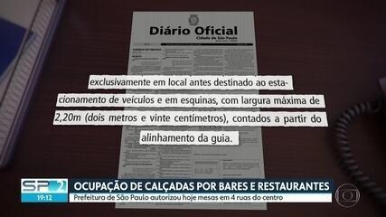 Prefeitura de SP publica decreto que libera ocupação de calçadas por bares e restaurantes