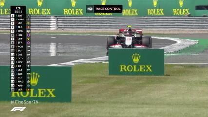Magnussen escapa da pista em treino livre em Silverstone
