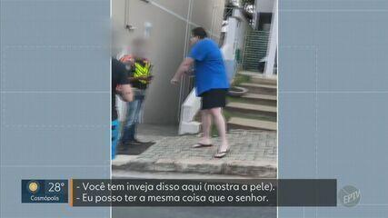 Motoboy é vítima de agressão verbal e racismo ao entregar em condomínio em Valinhos