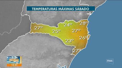 Veja a previsão do tempo para Santa Catarina