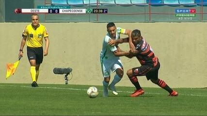 Veja os melhores momentos de Oeste 0 x 0 Chapecoense pela Série B do Campeonato Brasileiro