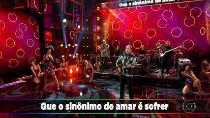 Zé Ramalho bota o Domingão para cantar com 'Sinônimos'