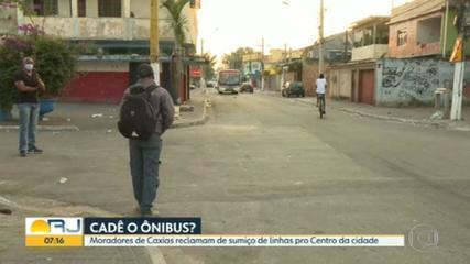 Passageiros de Caxias denunciam o desaparecimento de linhas de ônibus para o centro da cidade