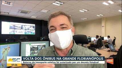 Prefeito de Florianópolis fala sobre retomada dos ônibus nesta segunda-feira
