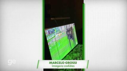 Amigos quebram TV no título paulista do Palmeiras