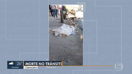 Carroceiro morre em acidente em Ibirité
