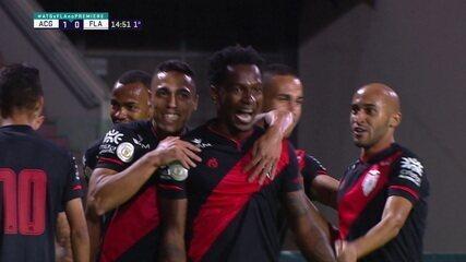 Os gols de Atlético-GO 3 x 0 Flamengo pela 2ª rodada do Brasileirão