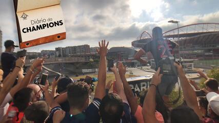 Diário da Champions: Raphael De Angeli mostra animação das torcidas e protocolo no Estádio