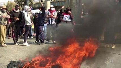 Protestos na Bolívia bloqueiam ambulâncias e suprimento de oxigênio e remédios