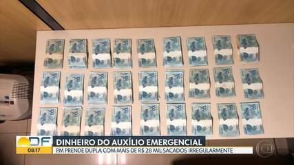 Dupla que fazia saques ilegais do Auxílio Emergencial é presa no Guará