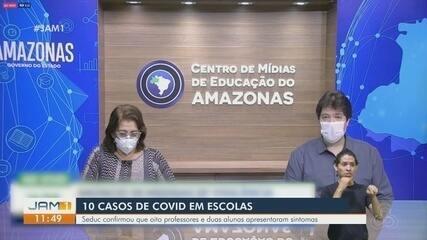 No AM, Seduc confirma 10 casos de Covid-19 em escolas