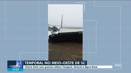 Forte temporal atinge regiões de Santa Catarina nesta sexta
