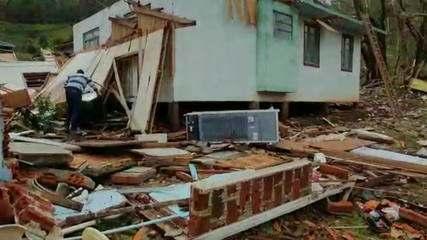Tornados atingem as cidades de Água Doce e Irineópolis, em SC
