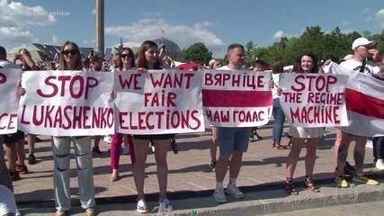 Duzentas mil pessoas saem às ruas da capital de Belarus em protestos contra governo