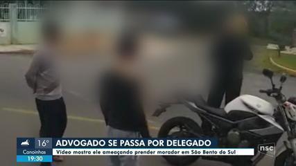 Advogado se passa por delegado e ameaça prender morador em SC