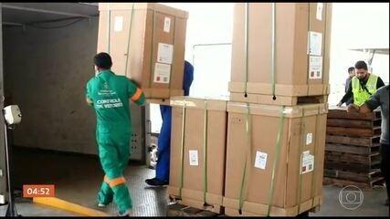 Ceará recebe a última parte de um lote de respiradores comprados da China