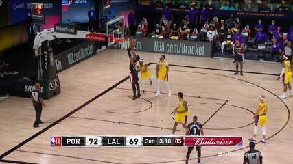 Bela trama de ataque da marca Blazers e Whiteside: Blazers 74 x 69 Lakers