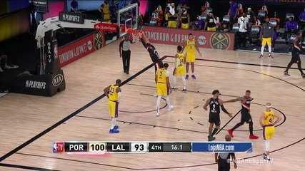 Melhores momentos: Los Angeles Lakers 93 x 100 Portland Trail Blazers, pela NBA