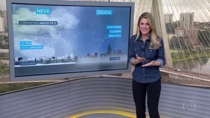 Serras catarinense e gaúcha podem ter neve no fim da tarde desta quinta (20)