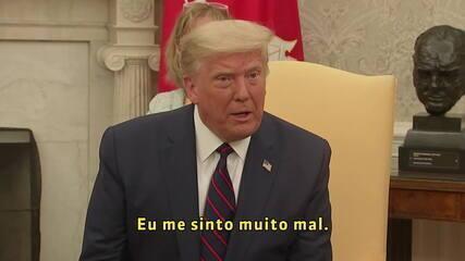 Trump sobre prisão de Bannon: 'Me sinto muito mal'