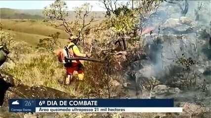 Combate a incêndio no Parque Nacional da Serra da Canastra completa seis dias