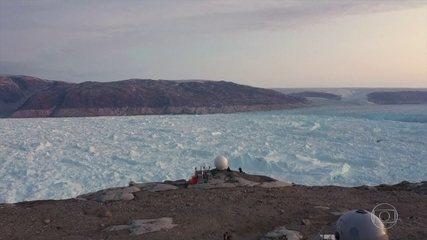 Cientistas registram perda de gelo recorde na Groenlândia